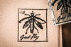 Gadfly Sign - 2 x 2 Inch Stamp