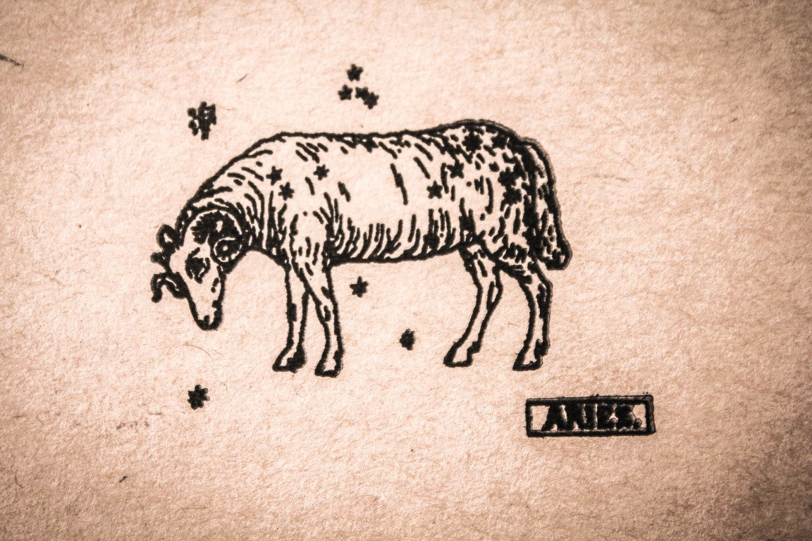 Aires the Ram - 2 x 2 Inch Stamp