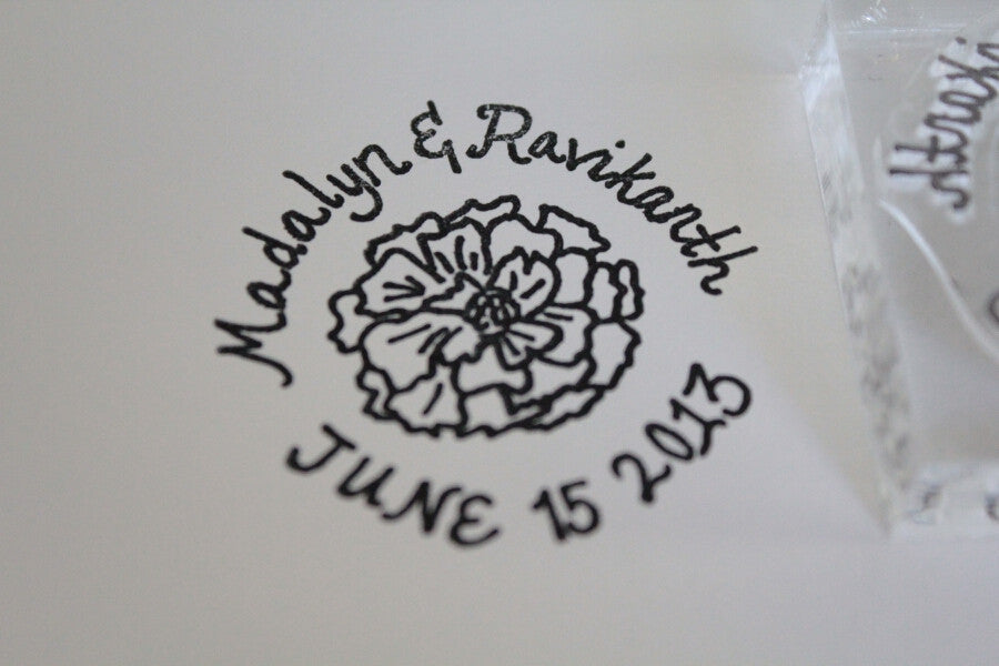 8 x 9 Inch Custom Stamp with Clear Acrylic Handle