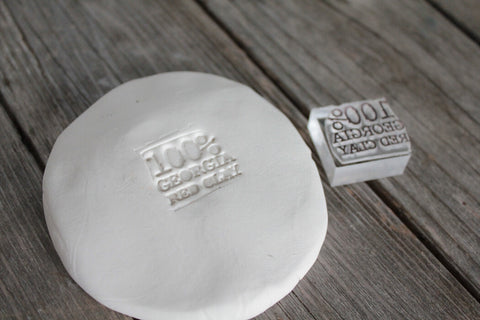 "1""x1"" Clay Custom Stamp"