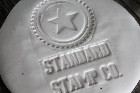"2""x3"" Clay Custom Stamp"