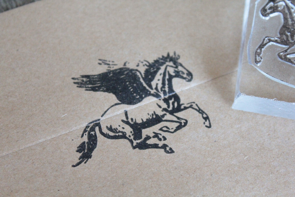 "Pegasus Winged Horse -  2"" x 2"" Stamp"