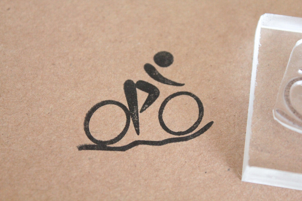 Bicycle Speed Sign 2 x 2 Inch Stamp