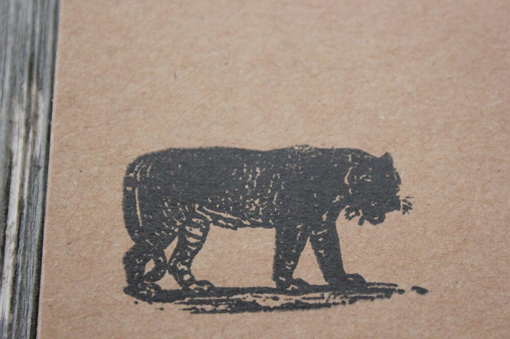 Tiger with Shadow 2 x 3 Inch Stamp