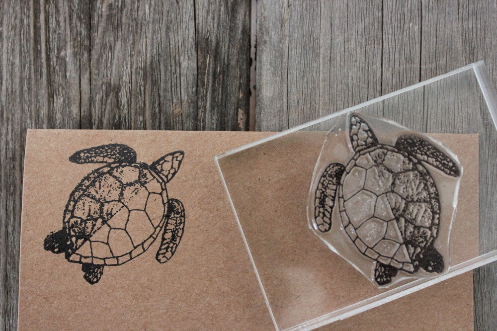 Sea Turtle Classic 2 x 2 Inch Stamp