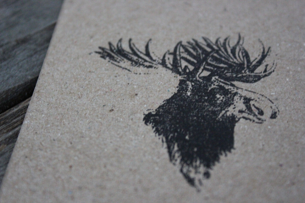 Moose Head 2 x 3 Inch Stamp