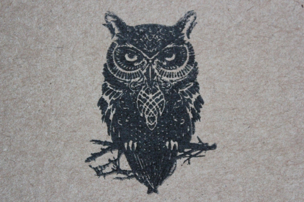 "Owl Not Impressed 2""x3"" Stamp"