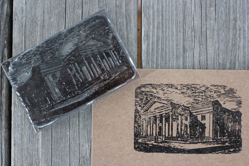 Parthenon-Like Greek Classic Structure 2 x 3 Inch Stamp