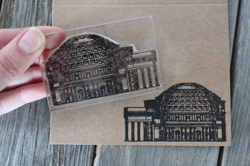 Greek Classic Structure 2 x 3 Inch Stamp