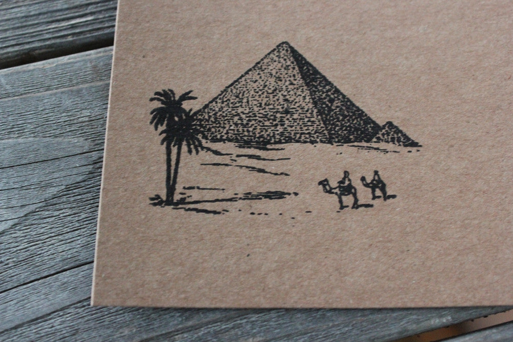 Pyramids from Egypt 2 x 2 Inch Stamp