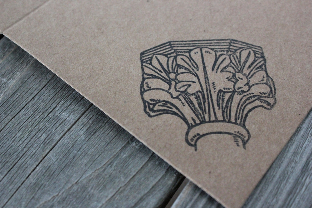 Corinthian Column Capital 2 x 2 Inch Stamp