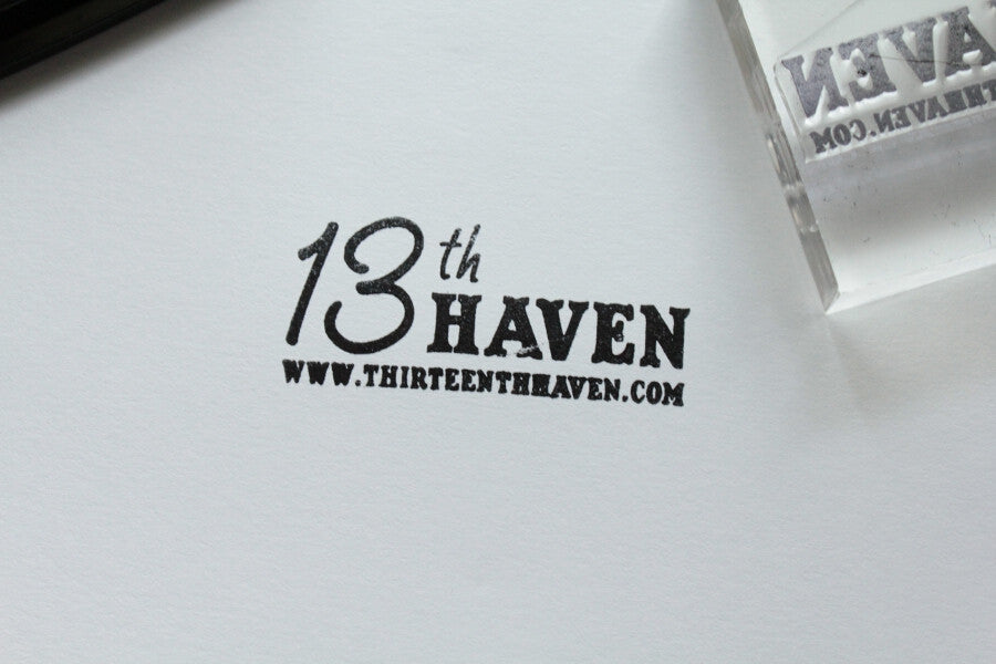 6 x 9 Inch Custom Stamp with Clear Acrylic Handle