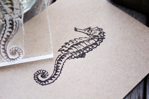 "Seahorse 2""x3"" Stamp"