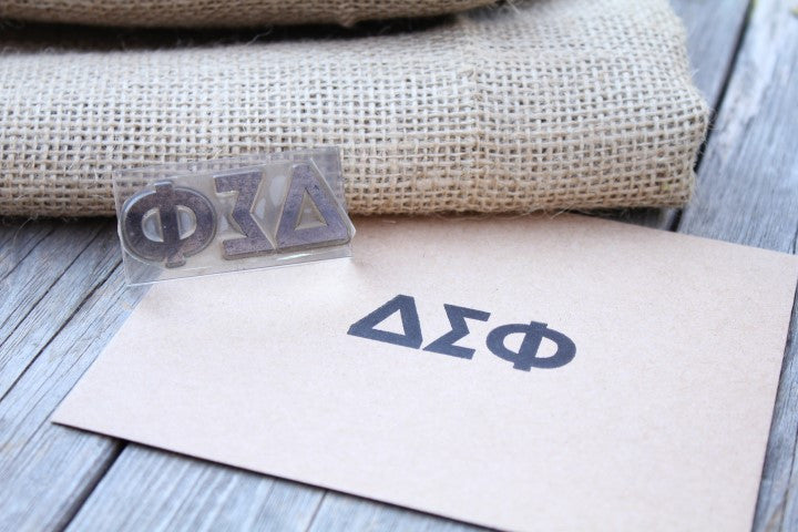 Greek Delta Sigma Phi 1 x 3 Inch Stamp