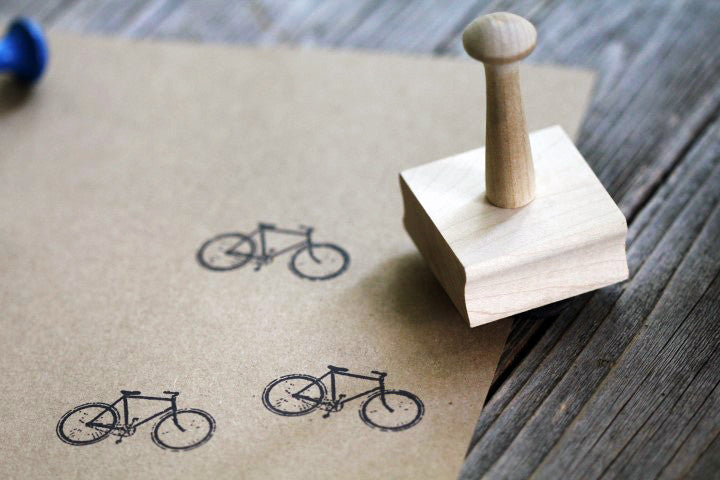 "2""x1"" Wooden Handle Stamp"