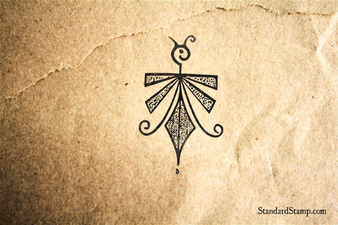 Indian Butterfly Art Rubber Stamp