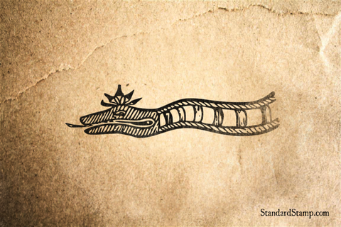 Indian Sea Serpent Art Rubber Stamp