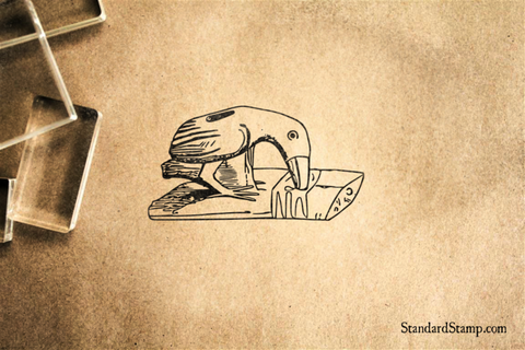Indian Toucan Carving Rubber Stamp