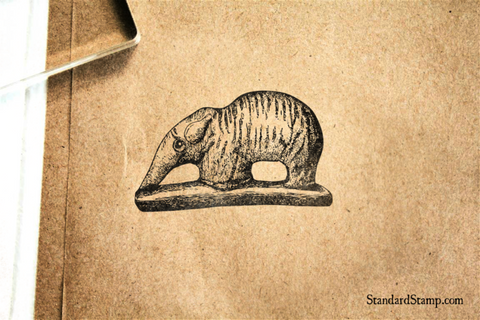 Iowa Indian Elephant Art Rubber Stamp