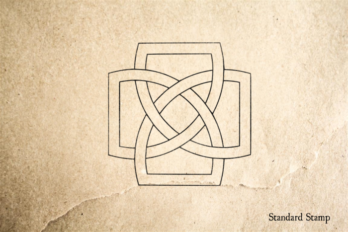 Irish Clover Celtic Knot Rubber Stamp