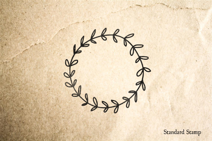 Ivy Wreath Rubber Stamp