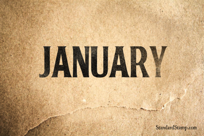 January Rubber Stamp