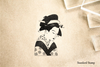 Japanese Girl Rubber Stamp