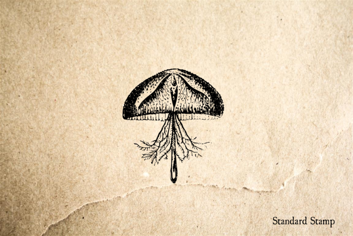 Small JellyFish Rubber Stamp