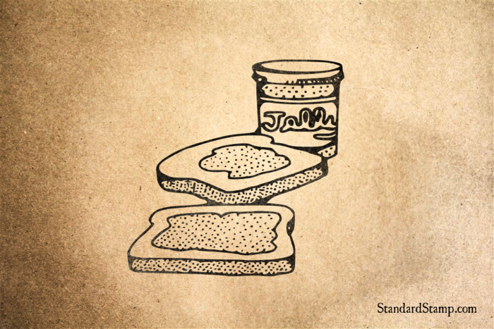 Jelly Toast Rubber Stamp