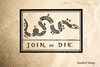 Join or Die Snake Sign Rubber Stamp