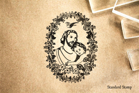 Joseph and Jesus Rubber Stamp