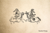 Jousting Knights Rubber Stamp