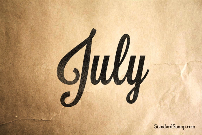 July Rubber Stamp