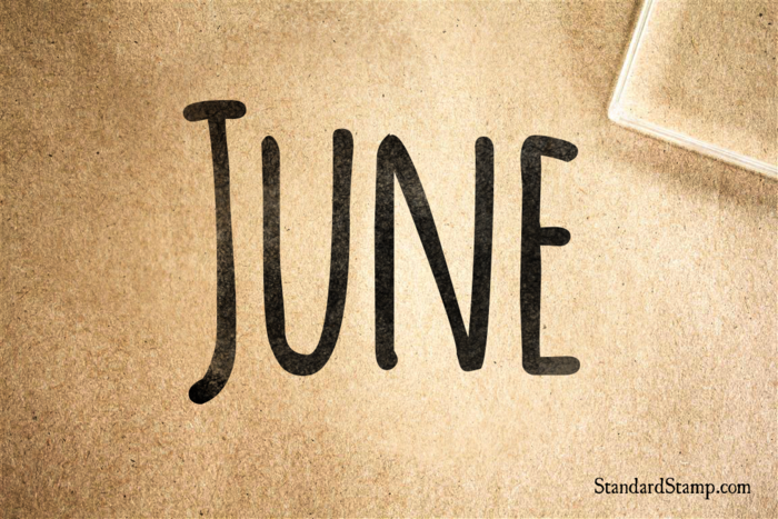 June Rubber Stamp