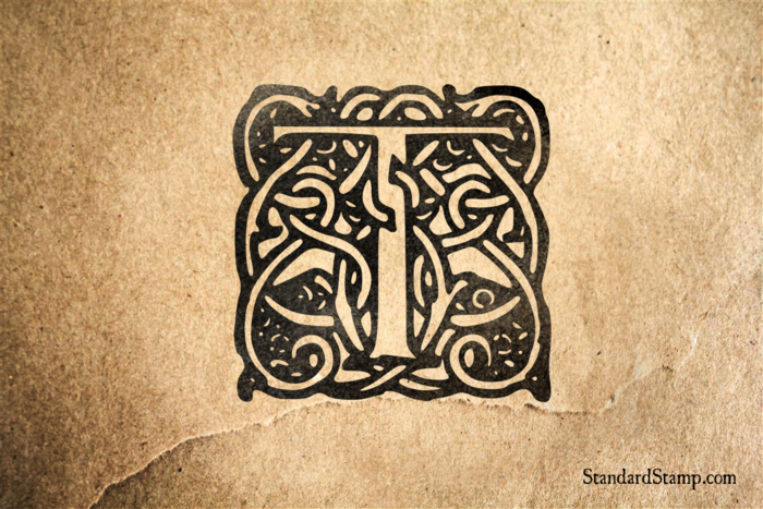 King Arthur Letter T Rubber Stamp