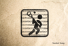Lacrosse on Text Rubber Stamp