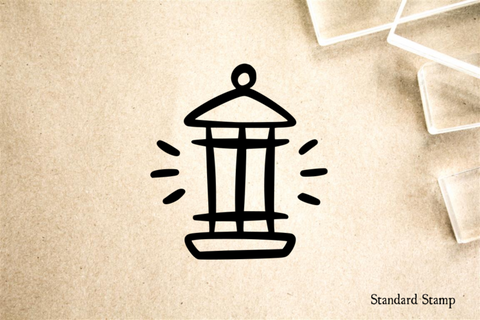 Lantern Cartoon Rubber Stamp