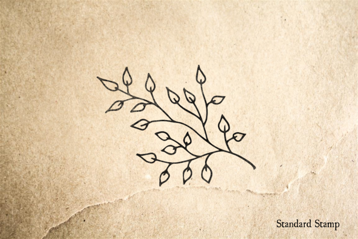 Leafy Branch Rubber Stamp