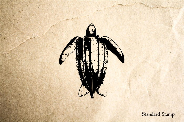 Leatherback Turtle Rubber Stamp