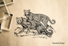 Leopard Pair Rubber Stamp