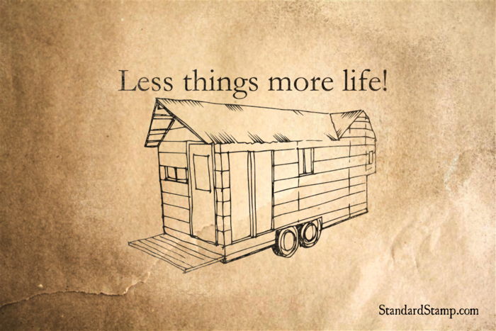 Less things more Life Rubber Stamp