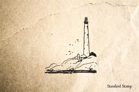 Lighthouse on Coast Rubber Stamp