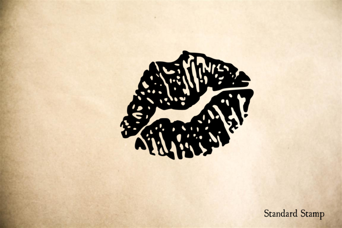Lips Rubber Stamp