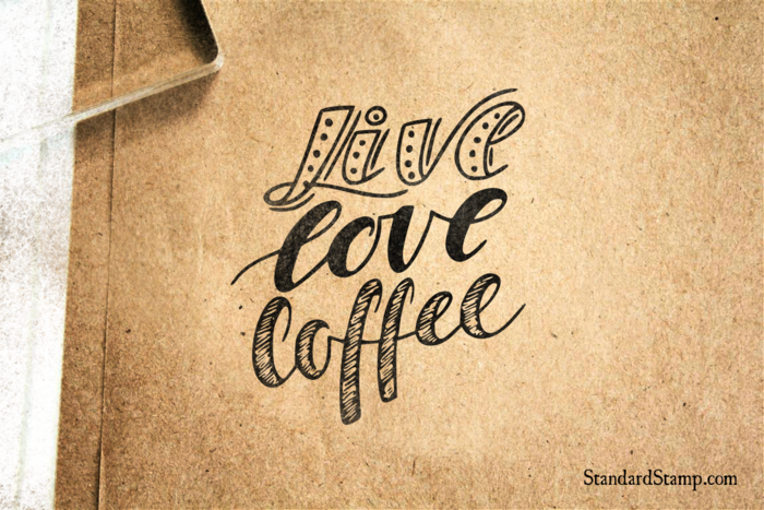 Live Love Coffee Rubber Stamp