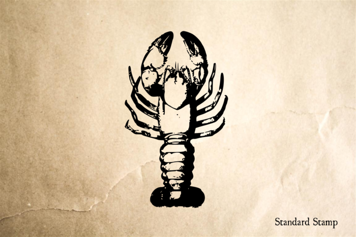 Lobster Topview Rubber Stamp