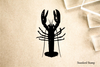 Lobster Topview Silhouette Rubber Stamp