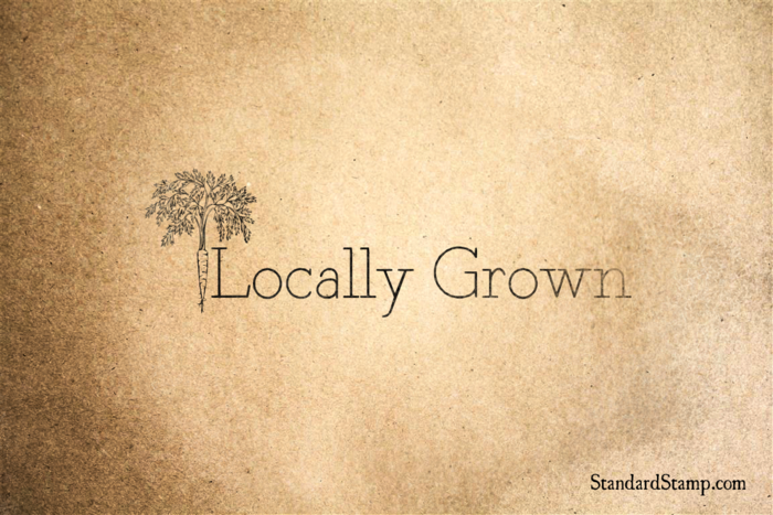 Locally Grown Rubber Stamp