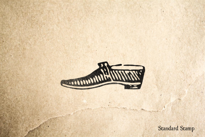 Low Cut Shoe Rubber Stamp
