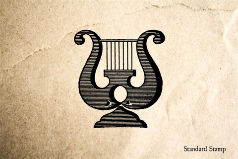 Lyre Rubber Stamp