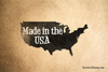 Made in the USA States Rubber Stamp